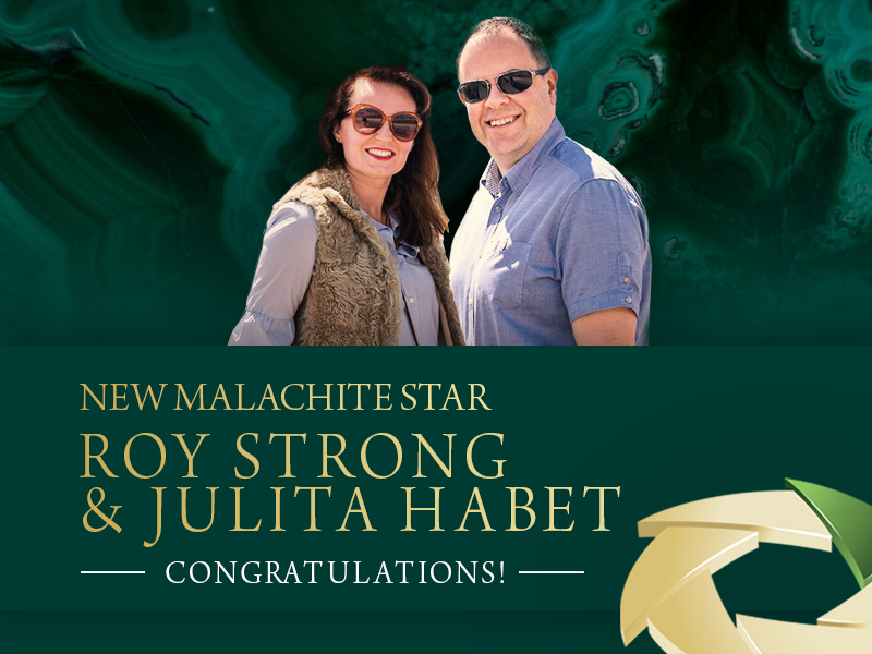 FM WORLD'S FIRST MALACHITE STAR! ROY STRONG & JULITA HABET FM WORLD UK!